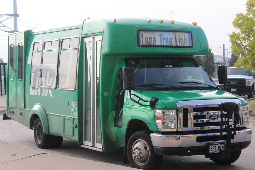 The Lone Tree Link Circulator shuttle will discontinue in lieu of the Lone Tree Link On Demand, an on-demand shuttle service that takes passenger to and from locations within city limits.