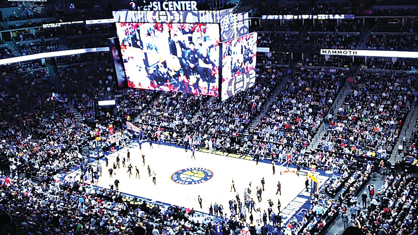 Dec. 14 at the Pepsi Center, a high-up shot as the Denver Nuggets defeated the Oklahoma City Thunder, 109-98.