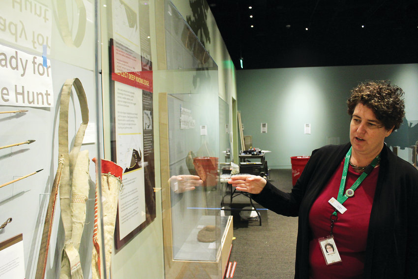 Liz Cook, the exhibit director, talks about several of the quivers on display at History Colorado's Written on the Land. The exhibit explores the history of the Ute tribes in Colorado, who were the earliest residents of the region.