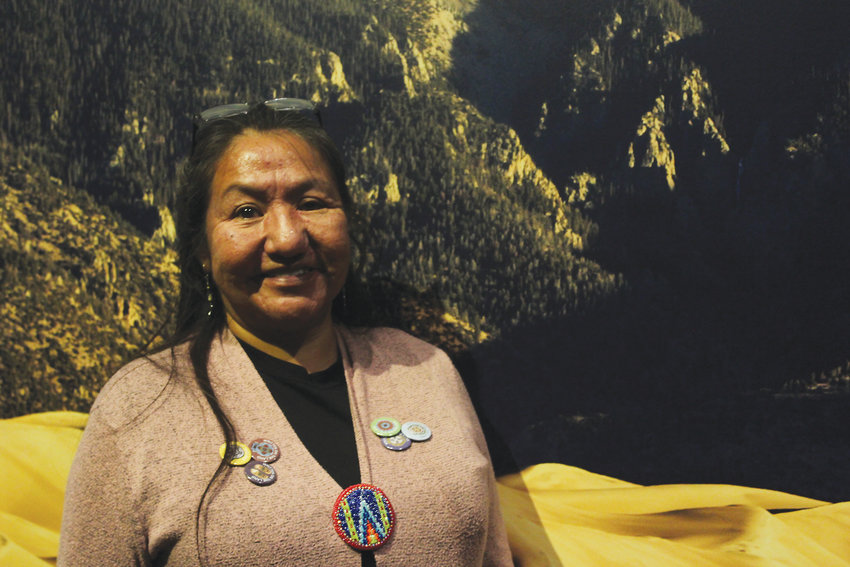 Cassandra Atencio said much of her own family history is on the walls of the Written on the Land exhibit. She said the Rocky Mountain region is where the heart of the Ute people is.