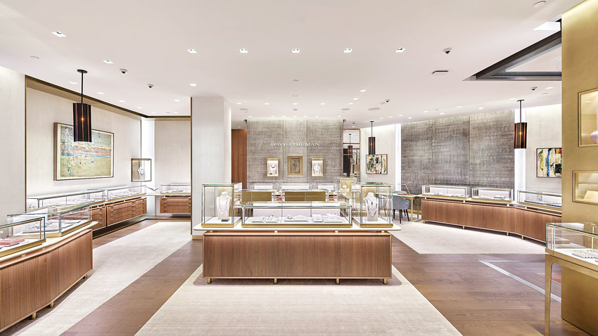 The David Yurman jewelry store reopened on the second floor of the Cherry Creek Shopping Center.