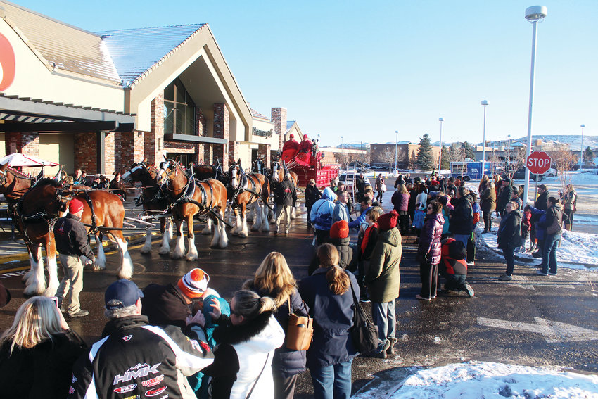 The famous Budweiser Clydesdales made an appearance at a Lone Tree Safeway Jan. 1 to celebrate the end to Prohibition-era beer laws.