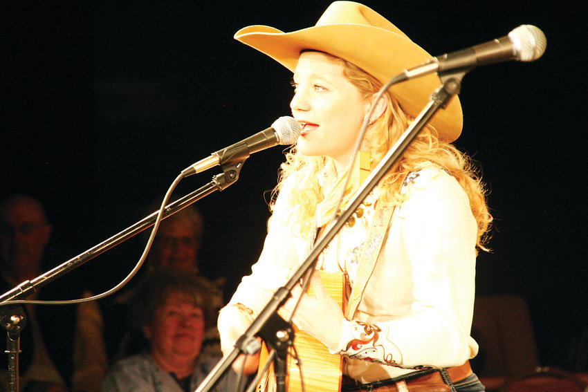 Kristyn Harris of Texas performs during the 2017 Colorado Cowboy Poetry Gathering.