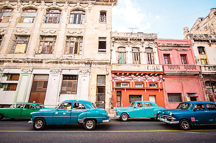 "The new IMAX movie ""CUBA"" includes great coverage of Old Havana's historic architecture."