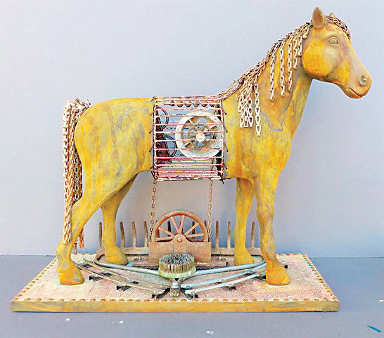 "Littleton artist Michelle Lamb's horse sculpture is included in ""Horse Power,"" a new exhibit at Curtis Arts Center."
