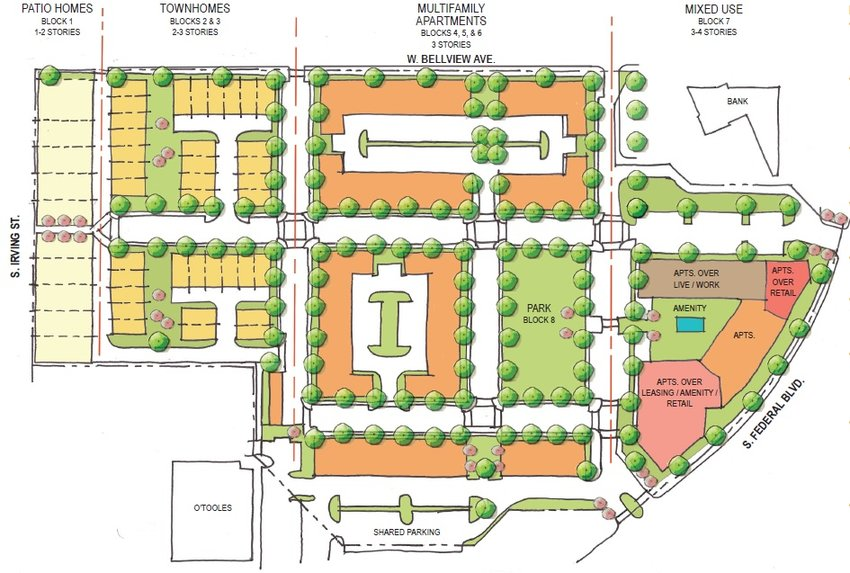 A developer has put forth a set of plans for the long-vacant Columbine Square property, but local stakeholders aren't sold on it.