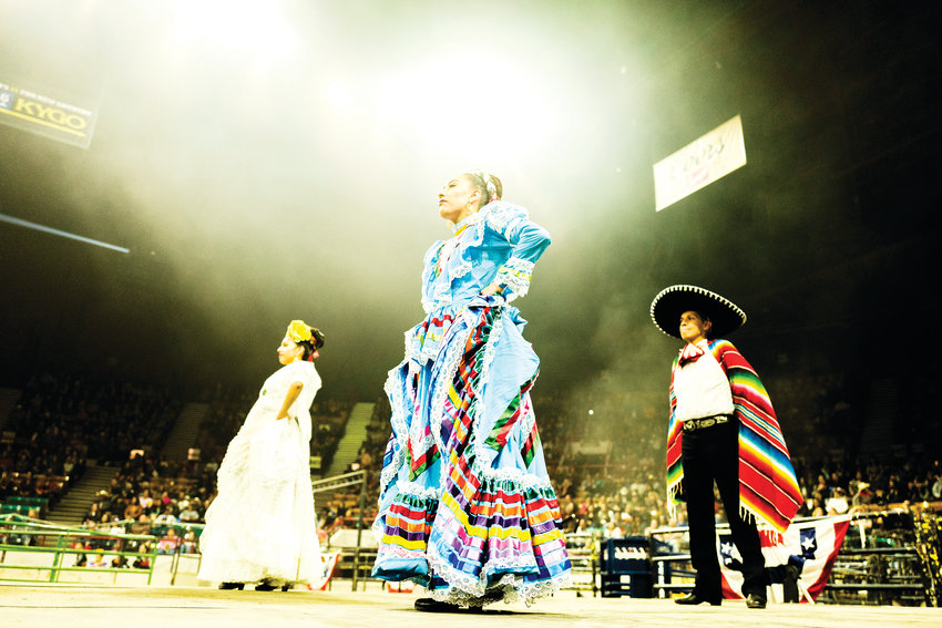 Cultural dance at the Mexican rodeo.