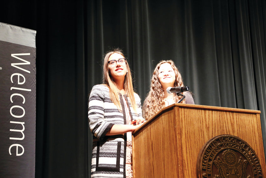 Teah Selkin and Zoe Siegel acted as conference co-chairs for the student-run diversity conference.