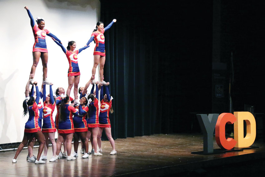 CHEER Colorado, an adult cheer group that stunts and performs to raise money for local LGBTQ charities, got the spirit flowing at the Cherry Creek Diversity Conference.