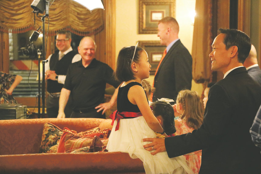 Philip Tan and his daughter Hope share a special moment at HRCA's Father and Daughter Sweetheart Ball at the Highlands Ranch Mansion on Feb. 1. More than 200 father-daughter duos attended the event, which featured dancing, photo ops and sleigh rides.