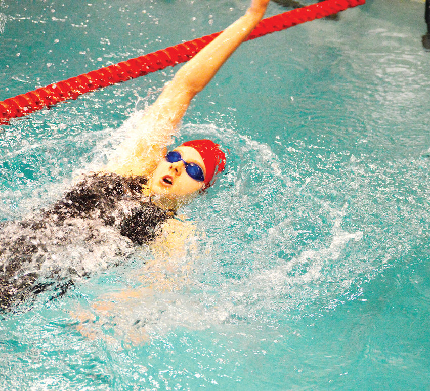 Skyler Robinson of Chaparral finished sixth in the 200 IM finals at the Continental League Swimming and Diving Championships which were held Feb. 1-2 at the Heritage high school pool. Mountain Vista won the league championship and Chap finished in eighth place.