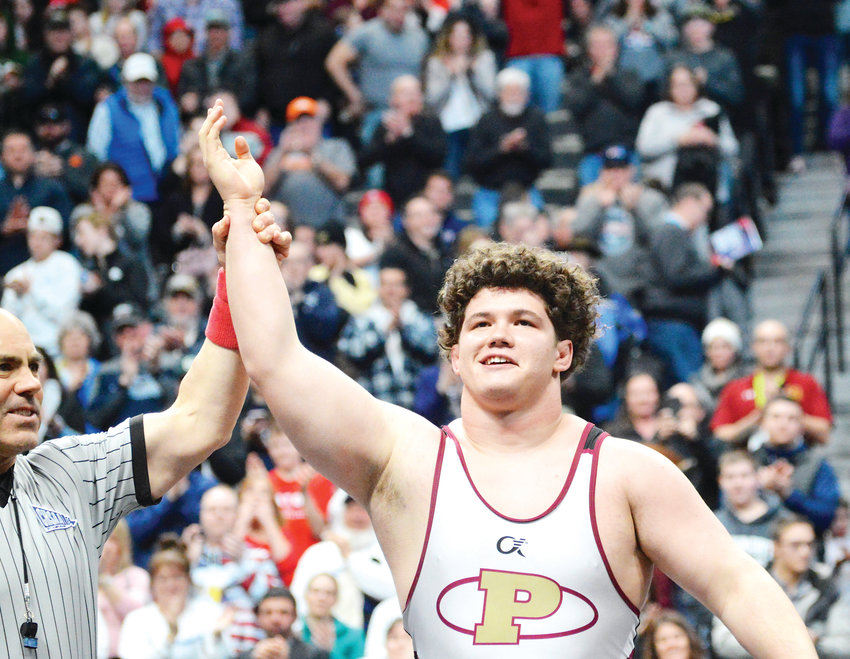 Ponderosa 285-pounder Cohlton Schultz won his fourth state championship on Feb. 23 at the CHSAA State Wrestling Championships at the Pepsi Center. Schultz pinned Legend's Colin Lavell in 52 seconds and was unbeaten with a 46-0 record.