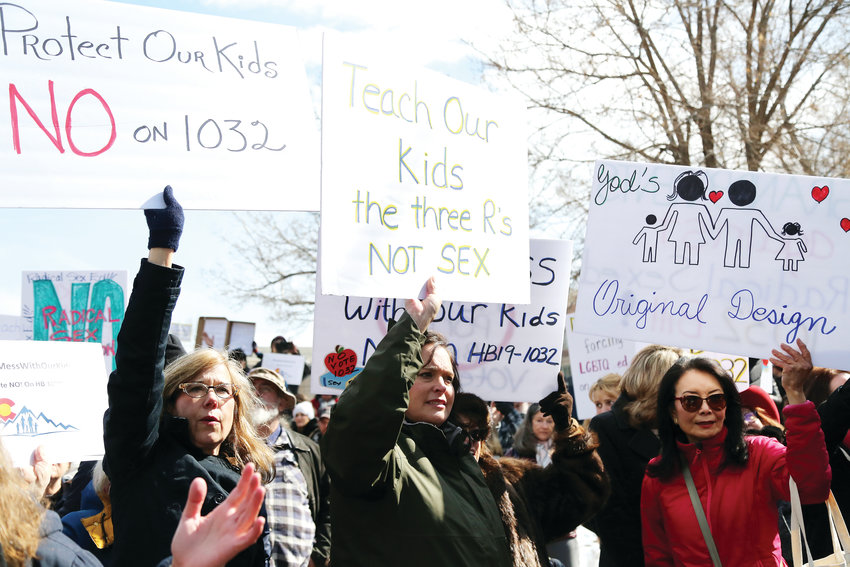 Many protesters believe that the proposed sex education bill is immoral and should not be taught in schools.