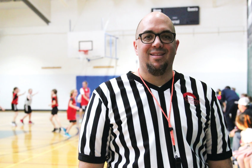 Brian Grams, 47, is a volunteer official for the Castle Rock Recreation Center's basketball league. He's been a coach or volunteer with the league for approximately 10 years, he said.