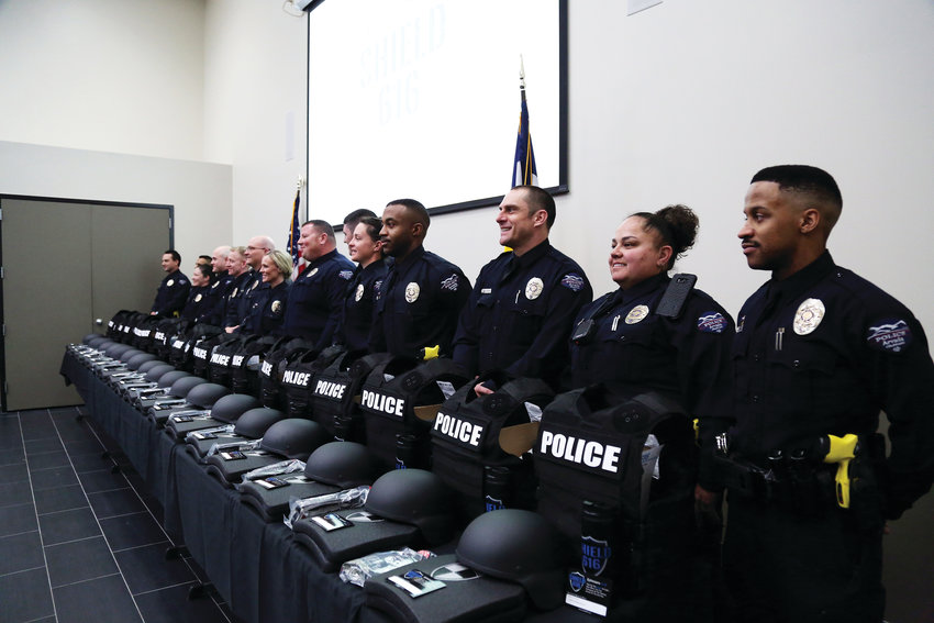 SHIELD 616 presented 20 armor packages to the Arvada Police Department Feb. 26.