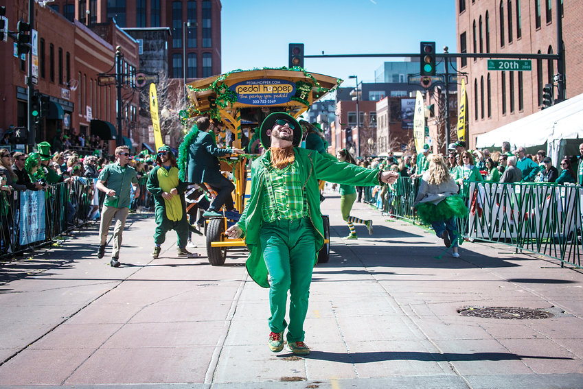 One of Colorado's biggest St. Patrick's Day celebrations takes place in downtown Denver during the St. Patrick's Day Parade.