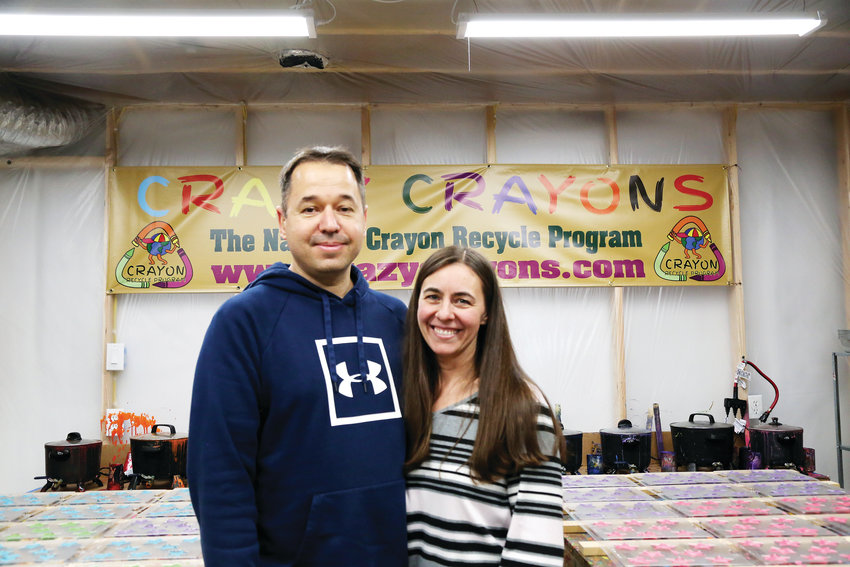 Atilla and Kim Martonosi, of Arvada, bought Crazy Crayons in June and are working to build the company back up.