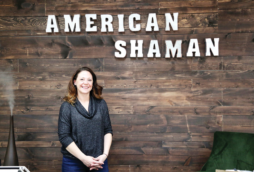 Bridget Sheils, co-owner of Arvada American Shaman, mans the store on Wadsworth Boulevard.
