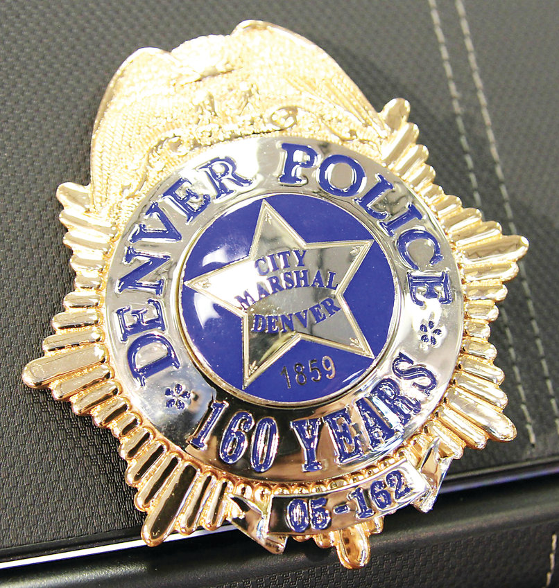 Denver Police unveiled the commemorative badge celebrating the 160th anniversary of the department. The badge was designed by Sgt. Christopher Hoag.
