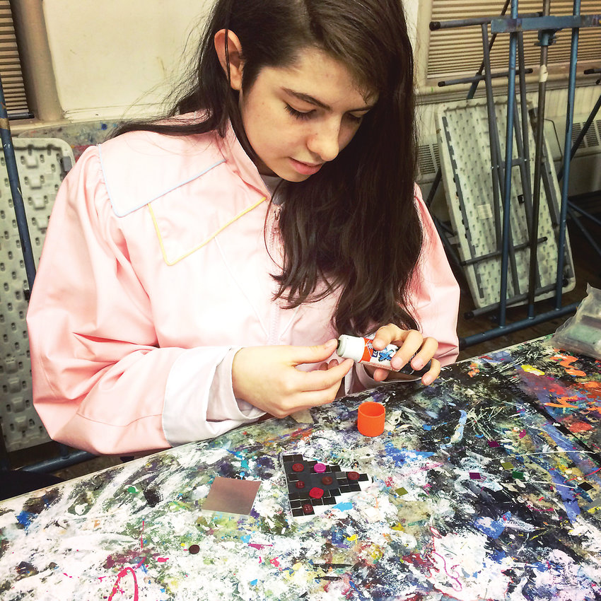 Tabitha Peña said she likes hearing people's opinions when talking about art at the Teen Studio on Friday nights at the Art Students League of Denver. She added that she looks forward to it every week.