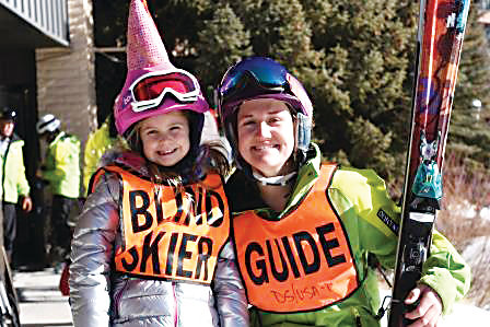 For ten years, the United States Association of Blind Athletes has helped blind people learn to ski at the Winter Ski Festival in Breckenridge.