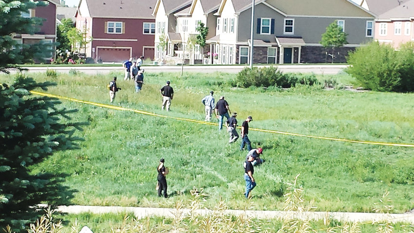 Police comb the area near 128th and Jasmine in Thornton June 9, 2017 near where the body of 10-year-old Kiaya Campbell was found the night before. Campbell was reported missing the night of June 7. Her body was found a mile away from her  Thornton house.