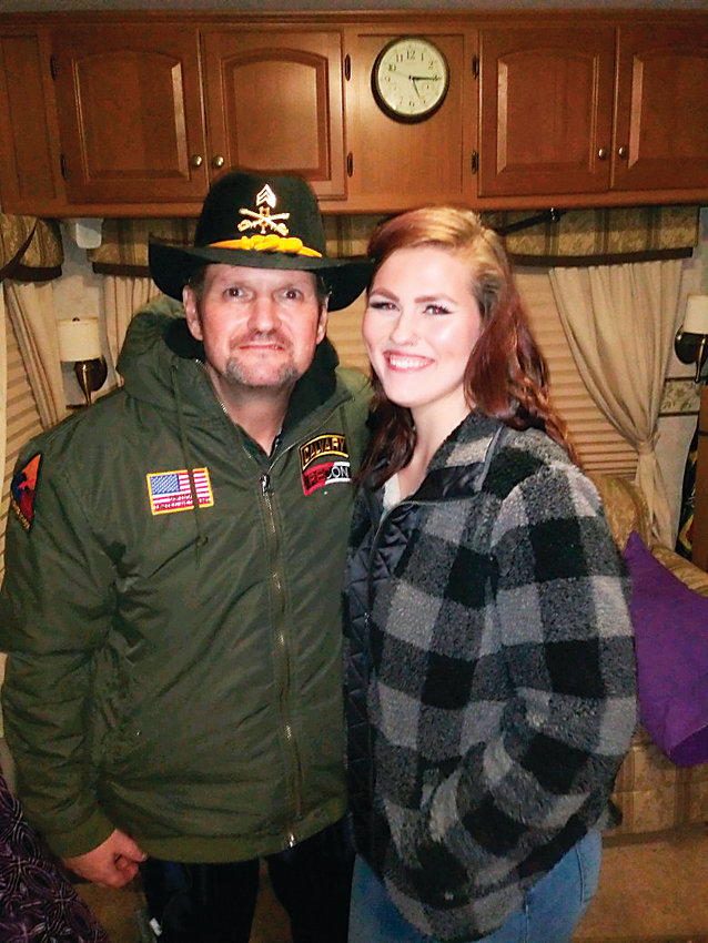 Blackhorse veteran Christian Redman, left, and his daughter, Alexis, celebrate her 18th birthday on March 10 in Louisville, Kentucky. Redman, 51, who lives in Parker, is dying of late-stage colon cancer. One of his greatest wishes was to be with his daughter on her birthday.
