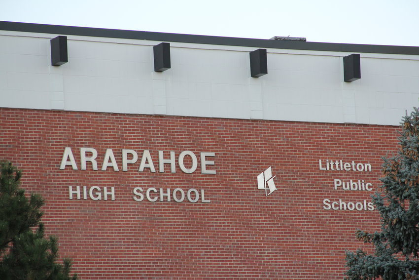 Arapahoe High School at East Dry Creek Road and South University Boulevard in Centennial.