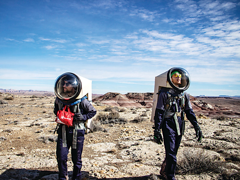 The Mars Society has two practice Mars exploration sites, one of which is in a desert near Hanksville, Utah.