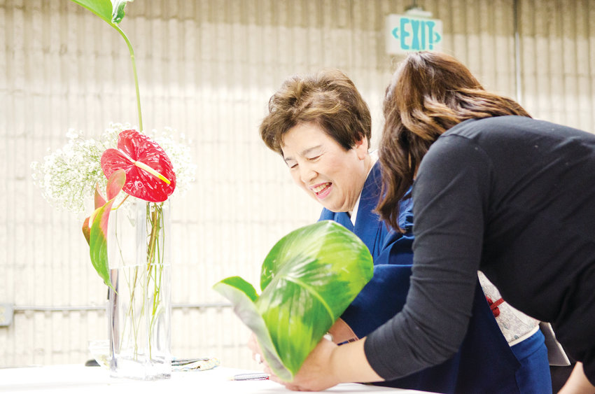 Members of Sogetsu, a national school for Ikebana, Japanese flower arranging, will demonstrate at the Denver Home Show March 22-24 at the National Western Complex.
