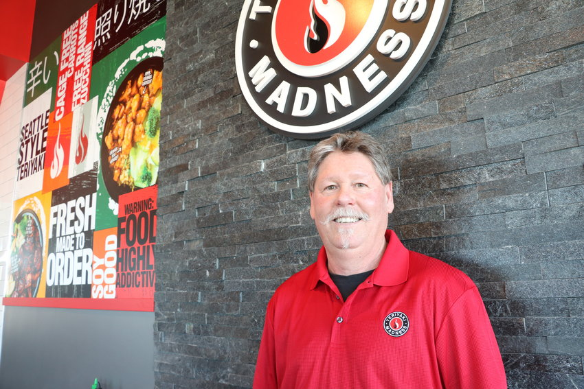 Steve Beck, the store owner of the Teriyaki Madness that opened on March 20, 2019.