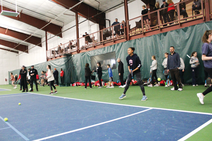 "The Parker Racquet Club is the only area indoor facility with a viewing mezzanine. The club puts Parker on the map for high-level tennis competition in the area. Just across from the Fieldhouse, the club is open to the public. ""I keep looking up thinking 'Are we at the Olympics?'"" said Craig Marshall, one of the club's three owners."