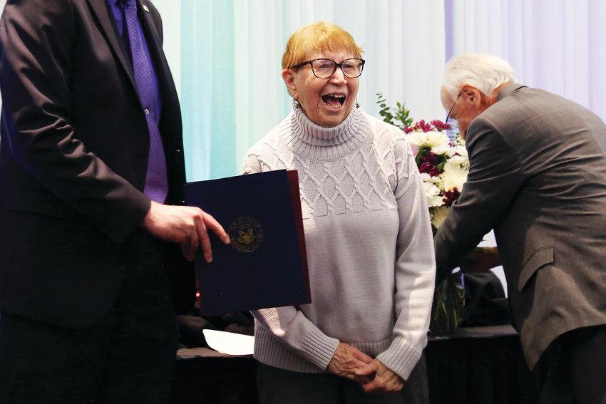 Mary Jo Giddings was awarded the Pioneer Award for her lifelong commitment to the Arvada community.