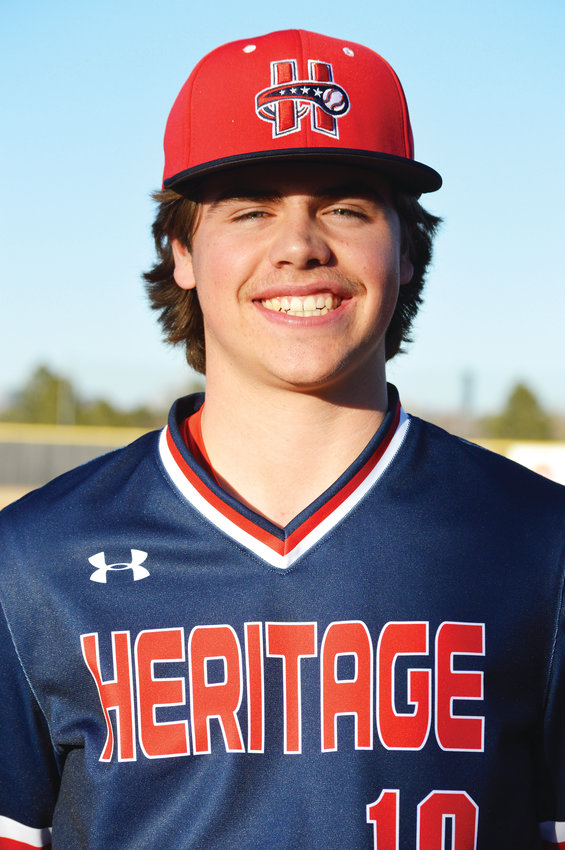 Heritage junior baseball player Conner Cummiskey.