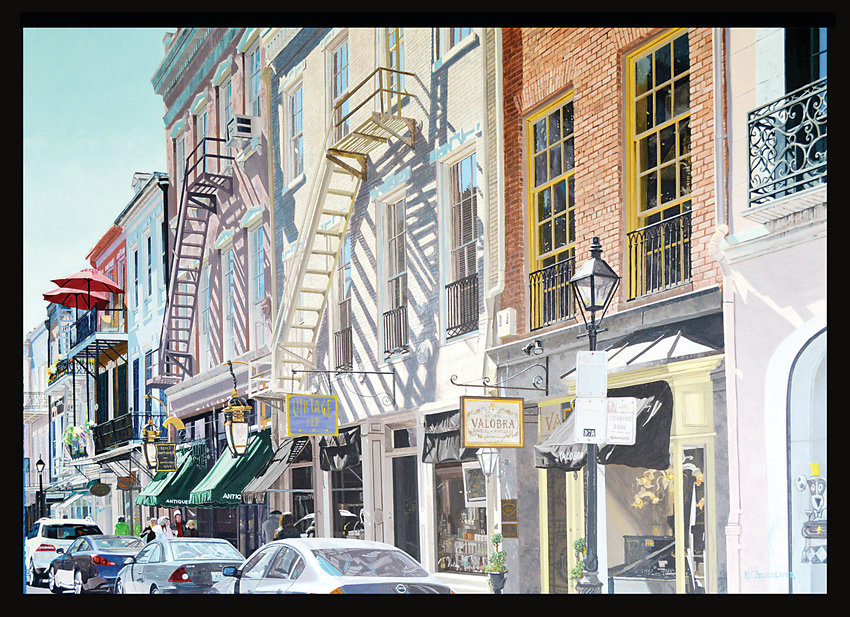 """Royal Street"" by Keith Oelschlager will be exhibited in ""Personality of Place,"" the Jeffco Teacher Solo Exhibition."