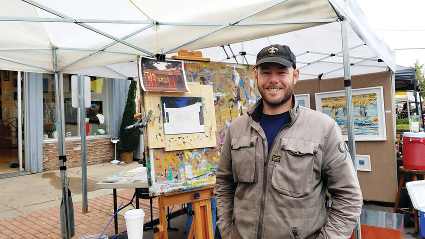 Keith Oelschlager, Arvada West High teacher, will exhibit his paintings of notable places around the Denver Metro area.