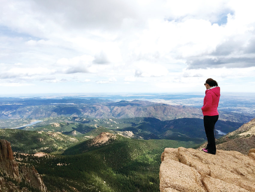Pikes Peak is one of 58 14ers (peaks that rise more than 14,000 feet above sea level) in Colorado.