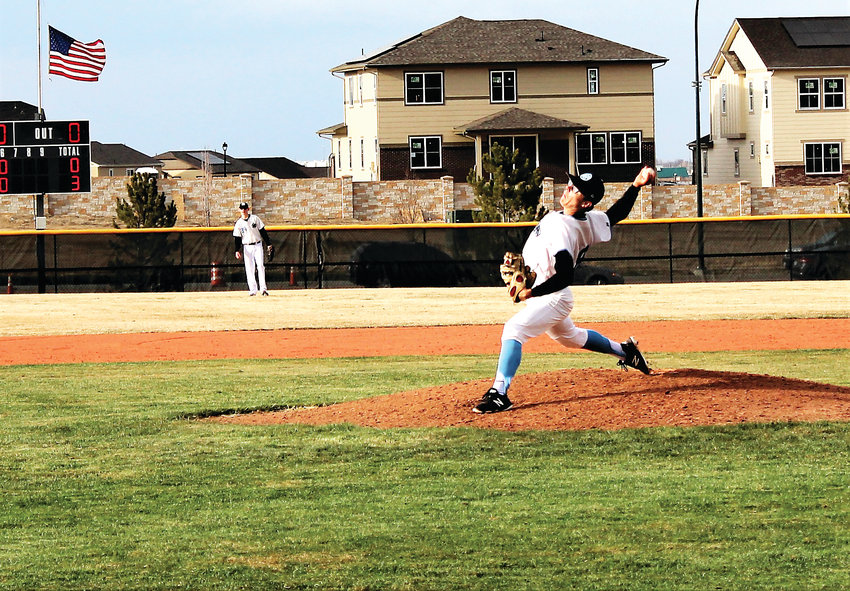 Mountain Range's Matt Brocklander records the save April 3 against Lakewood.