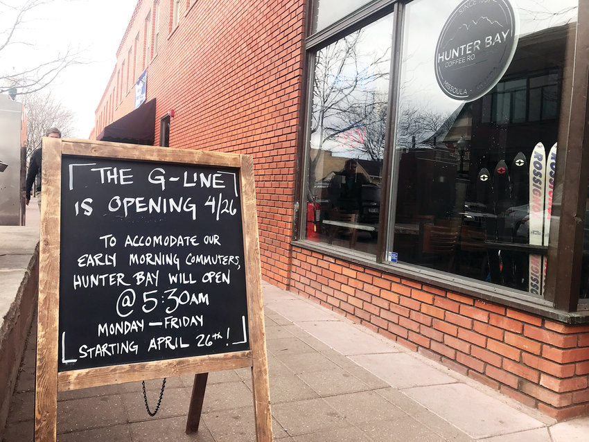 In anticipation of morning commuters, Hunter Bay Coffee Roasters, which is located across from the Olde Town Arvada G Line stop will open at 5:30 a.m. starting April 26.