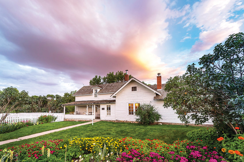 The Hildebrand Farmhouse, on the National Register of Historic Places, is part of Denver Botanic Gardens at Chatfield Farms.