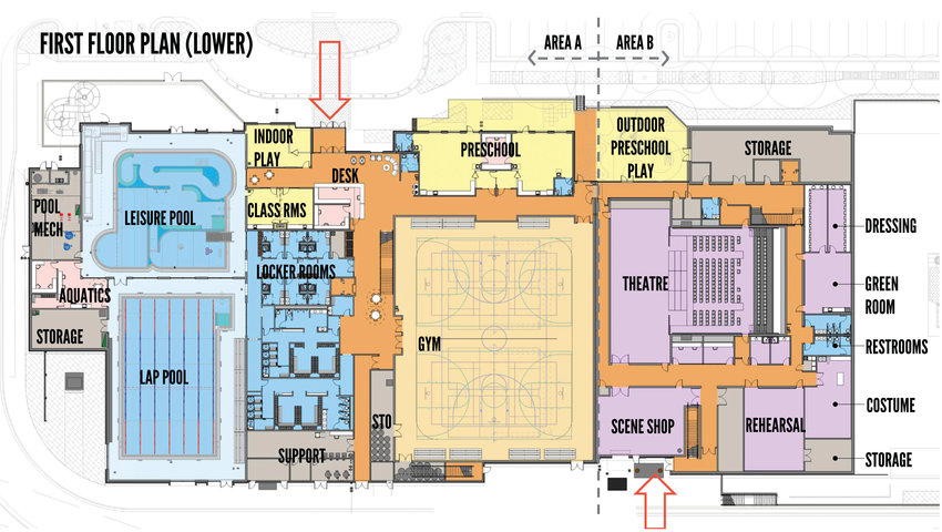 Architects are beginning the more detailed design work for Northglenn's planned civic center complex upgrade. Councilors approved the current designs which show room sizes and arrangement, like this first floor plan, and should have more detailed designs and cost estimates later this summer.