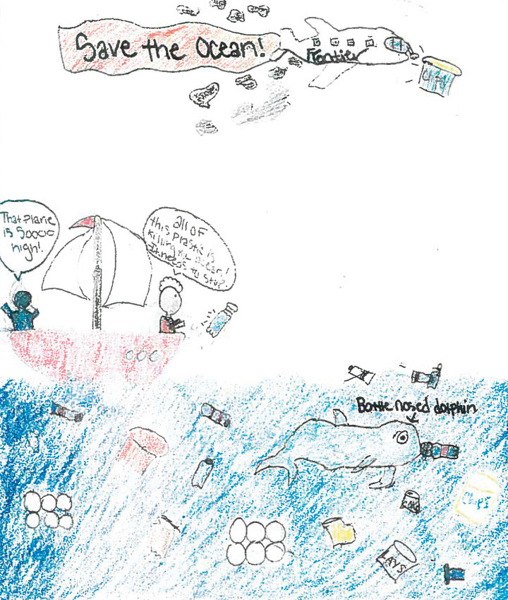Editorial cartoon by Kalli Ross, seventh grade, Drake Middle.