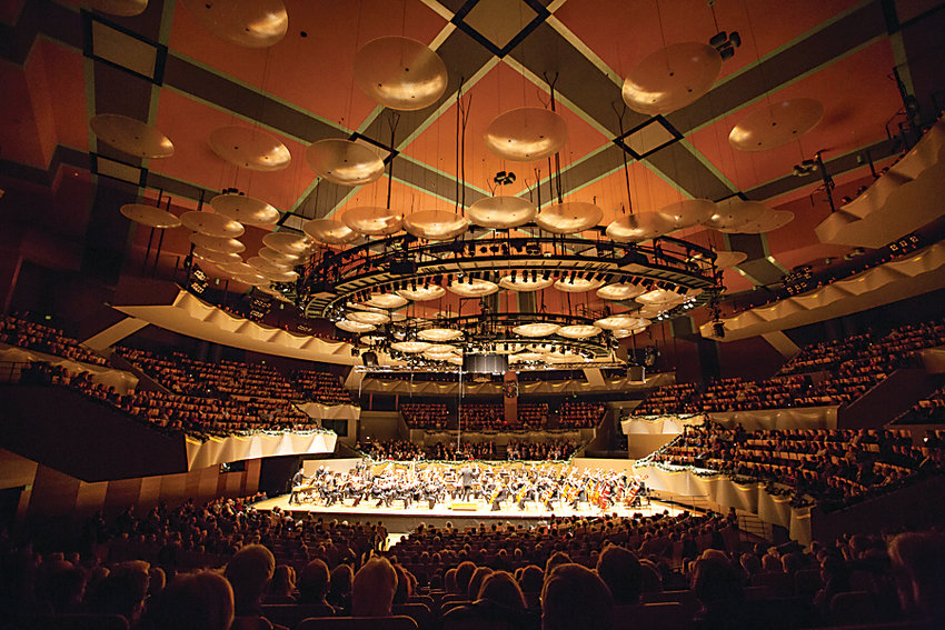 The Colorado Symphony performs at Boettcher Concert Hall in Denver. The symphony is in talks with the city to find a new performance space or rebuild Boettcher.