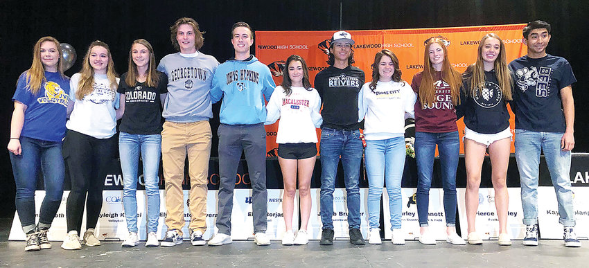 Lakewood High School held another National Letter of Intent signing celebration on April 25.