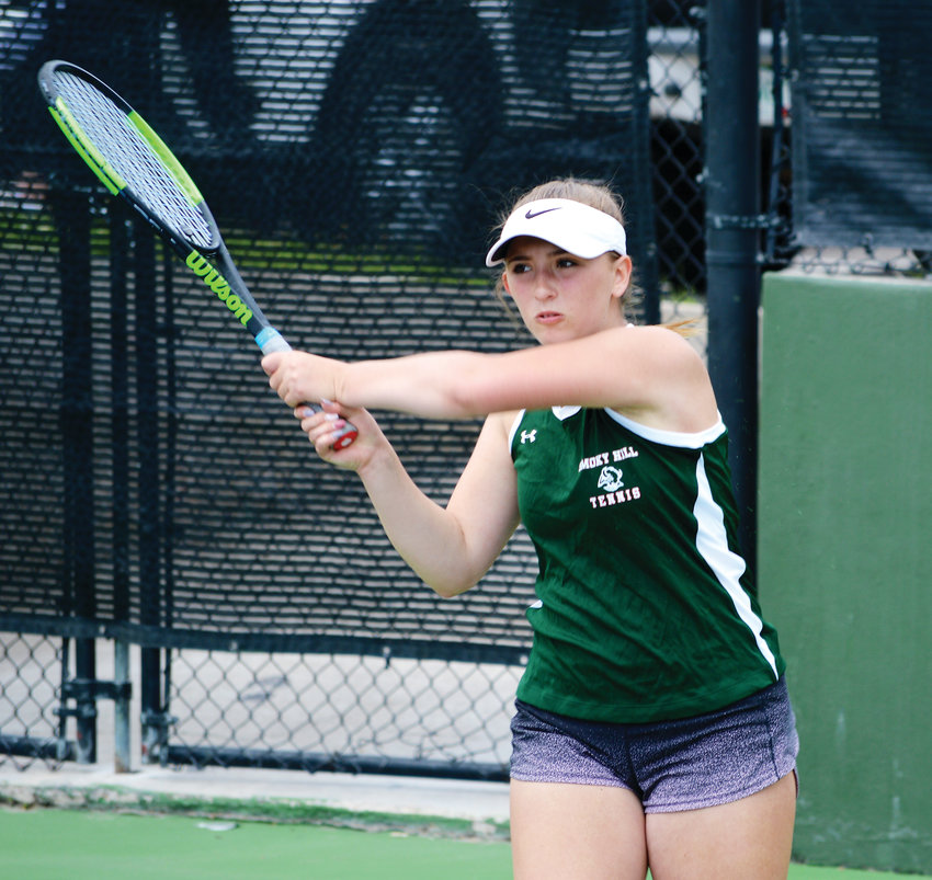 Sophomore Valerie Negin became the first state champion from Smoky Hill since Patti Urban won the No. 1 singles title in 1985, '86 and '87. Negin defeated Sophie Pearson of Fairview, 6-4, 4-6, 6-2 on May 11 to capture the No. 1 singles title at the CHSAA girls state tennis tournament at the Gates Tennis Center.