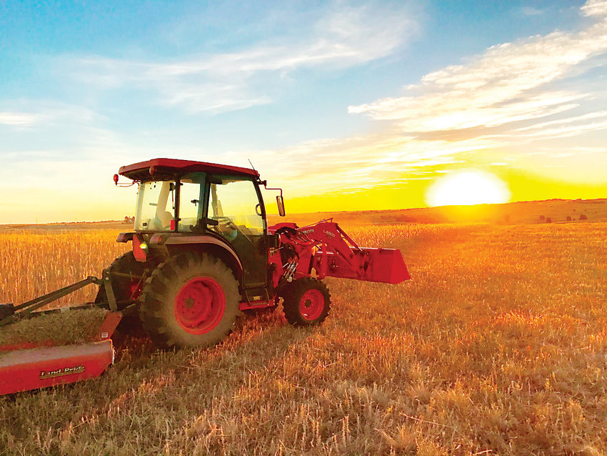 Elizabeth resident John Duvall's photo of the tractor at dawn will be displayed at the Elbert County Admin building, the Kiowa Town Hall and the Elbert County museum, as part of the county's first photo contest.