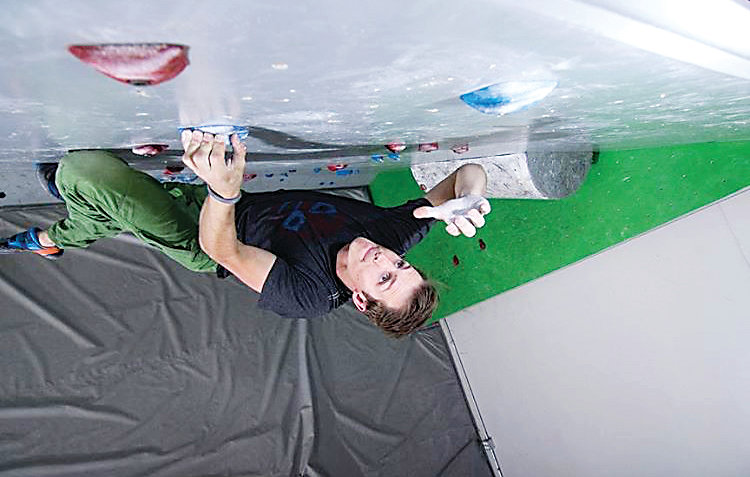 Kegan Minock, 27, has been climbing for 16 years and started focusing on bouldering about a decade ago. He is the general manager of ROCK'n & JAM'n gym in Centennial.