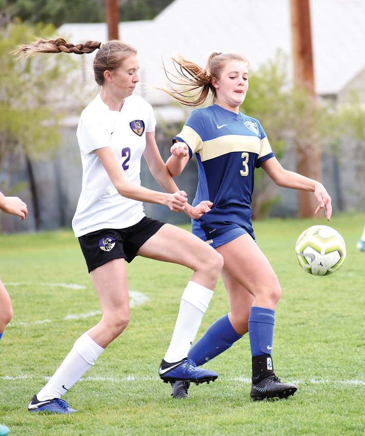 Wheat Ridge freshman Emily Browne (3) scored a pair of goals for the Farmers' in their 3-1 victory over Holy Family in the second-round playoff game May 11 at Lakewood Memorial Field.