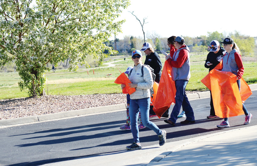 The team from 3W Races set out on the Big Dry Creek Trail May 11 in Westminster to collect trash. The company manages running races in Westminster and volunteered to collect trash during Westminster Community Pride Day along a trail they use regularly.
