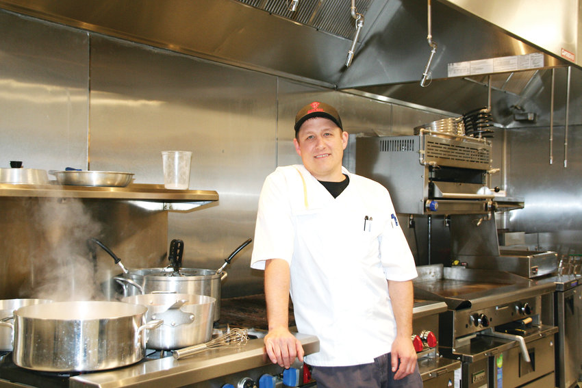 Jan Vonada, Buffalo Rose's executive chef, stands inside the newly remodeled venue's brand new 2,000 square foot multifunctional kitchen. The restaurant at the Buffalo Rose, 1119 Washington Ave. in Golden, will open this Memorial Day weekend and will serve Colorado regional cuisine with a Latin influence.